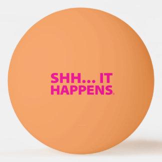 GUTER WELPE Klingeln Pong Ball. SHH… GESCHIEHT ER Ping-Pong Ball