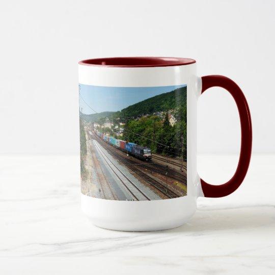 Güterzug in Gemünden am Main Tasse