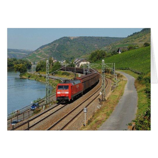 Güterzug in Lorch am Rhein Karte