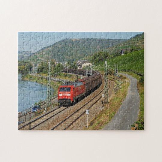 Güterzug in Lorch am Rhein Puzzle