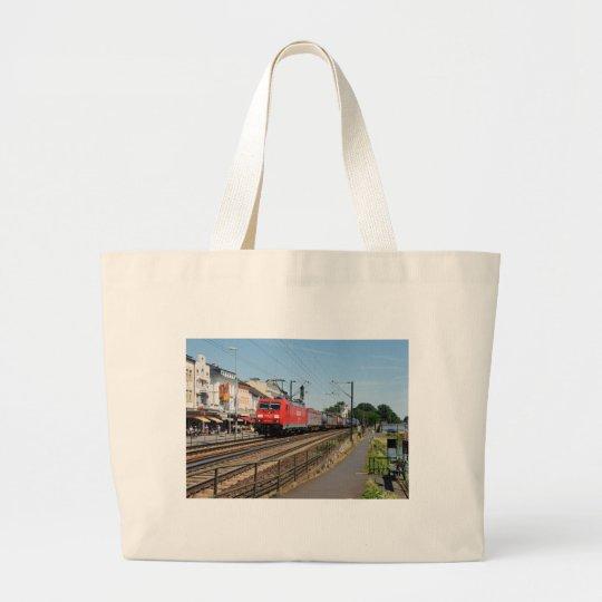 Güterzug in Rüdesheim am Rhein Jumbo Stoffbeutel