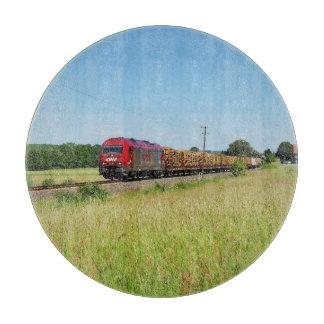 Güterzug in Simtshausen Schneidebrett