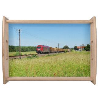 Güterzug in Simtshausen Serviertablett