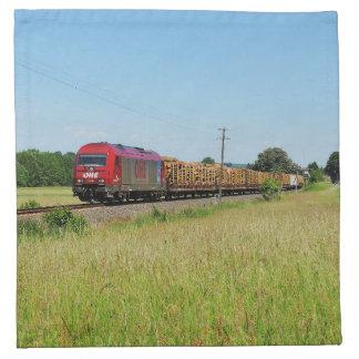 Güterzug in Simtshausen Stoffserviette