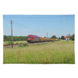 Güterzug in Simtshausen Stofftischset