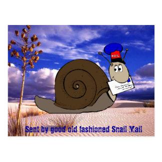 Gutes altmodisches snail mail postkarte