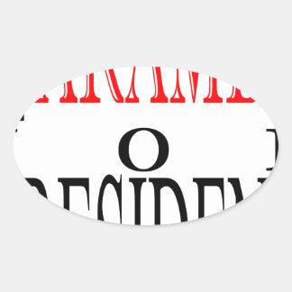 gutes harambe Wahlpräsidentenabstimmungs-Wächter Ovaler Aufkleber