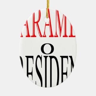 gutes harambe Wahlpräsidentenabstimmungs-Wächter Ovales Keramik Ornament