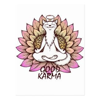 Gutes Karma Postkarte