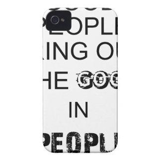 gutes Leute bringout das gute in den Leuten iPhone 4 Case-Mate Hülle