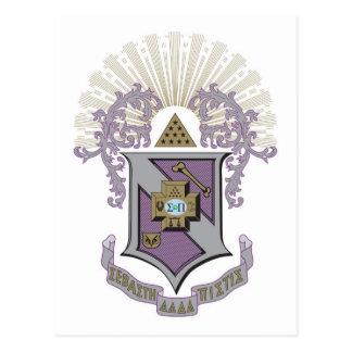 Gutes Wappen 4-C Sigma-PUs Postkarte
