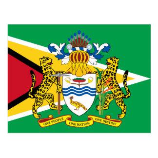 Guyana-Emblem Postkarte