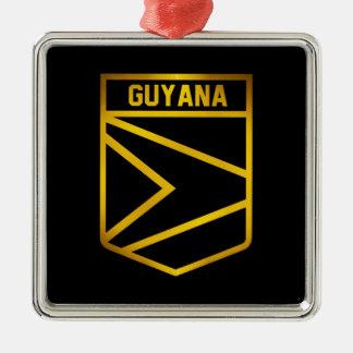 Guyana-Emblem Silbernes Ornament