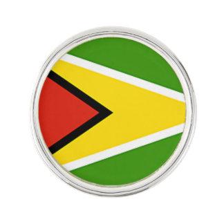 Guyana-Flagge das goldene Anstecknadel