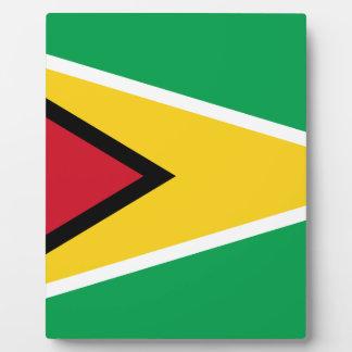 Guyana-Flagge Fotoplatte