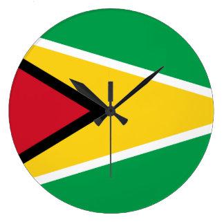 Guyana-Flagge Große Wanduhr