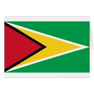 Guyana-Flagge Karte