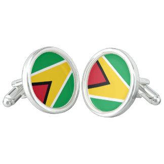 Guyana-Flagge Manschettenknöpfe