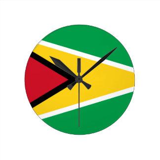 Guyana-Flagge Runde Wanduhr