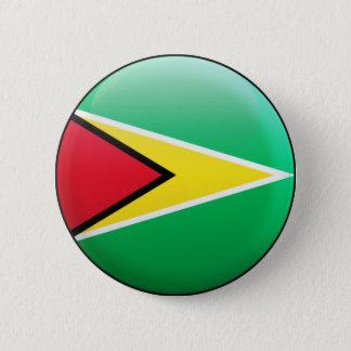 Guyana-Flagge Runder Button 5,7 Cm