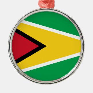 Guyana-Flagge Silbernes Ornament