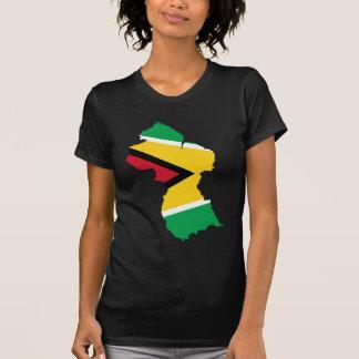 Guyana-Flaggen-Karte GY T-Shirt