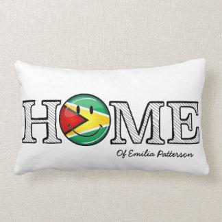 Guyana-Flaggen-smiley Housewarmer Lendenkissen