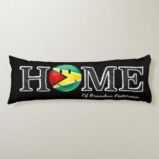 Guyana-Flaggen-smiley Housewarmer Seitenschläferkissen