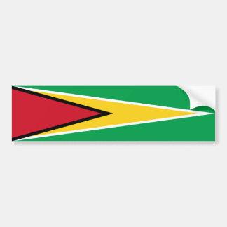 Guyana/guyanische Flagge Autoaufkleber