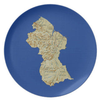 Guyana-Karten-Platte Melaminteller