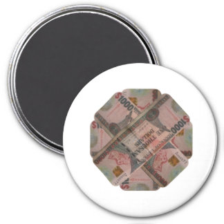 Guyana-Kühlschrank 1000 Dollar-Magnet Runder Magnet 7,6 Cm