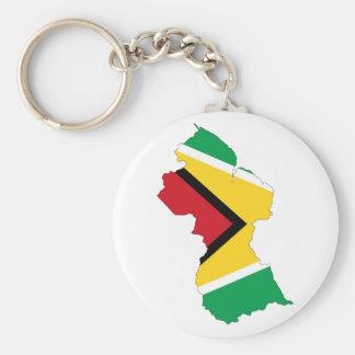 Guyana-Landesflaggekarten-Formsymbol Schlüsselanhänger