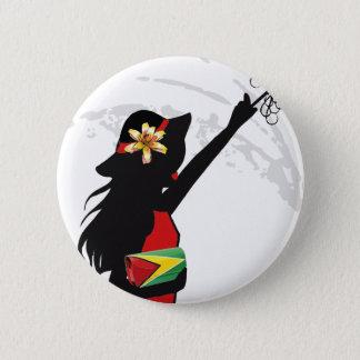 Guyana-Mädchen-Knopf Runder Button 5,1 Cm