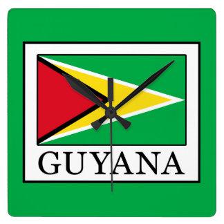 Guyana Quadratische Wanduhr