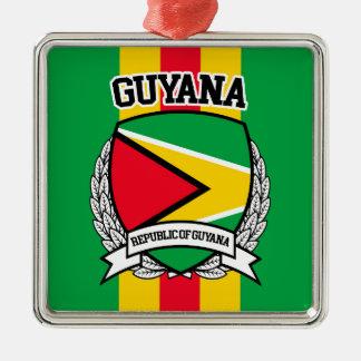 Guyana Silbernes Ornament