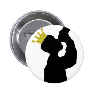 Guzzler mit Kronenikone Runder Button 5,1 Cm