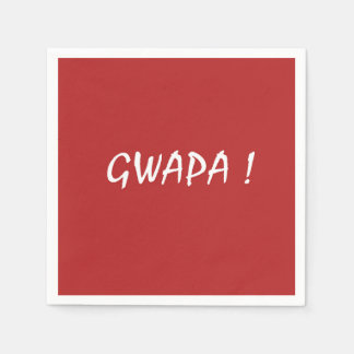 gwapa Text Cebuano FilipinoTagalog Servietten