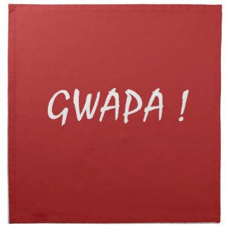 gwapa Text Cebuano FilipinoTagalog Stoffserviette