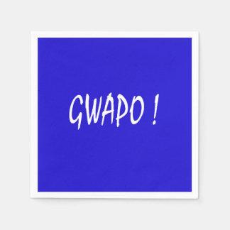 gwapo Text hübsches Tagalog-Filipino cebuano Papierservietten