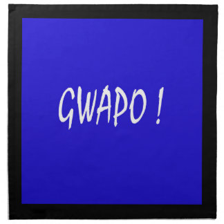 gwapo Text hübsches Tagalog-Filipino cebuano Stoffserviette