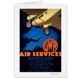 GWR Fluglinienverkehre Vintages PosterEurope Karte