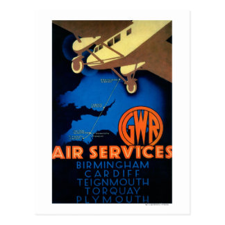 GWR Fluglinienverkehre Vintages PosterEurope Postkarten