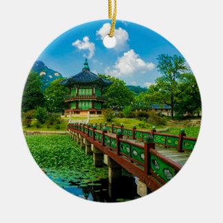 Gyeongbokgung Palast, Südkorea Rundes Keramik Ornament