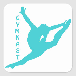 Gymnast-aquamariner Aufkleber