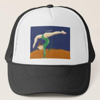 Gymnast auf Schwebebalken-Kunst Truckerkappe