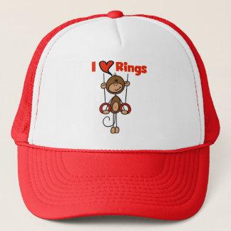 Gymnast-Liebe-Ring-T-Shirts und Geschenke Truckerkappe