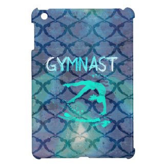 Gymnast-Stammes- Muster-Blau Hülle Für iPad Mini