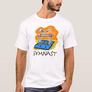 Gymnast-Strichmännchen-parallele Stangen-T - T-Shirt