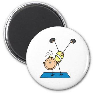 Gymnast-Üben Runder Magnet 5,1 Cm