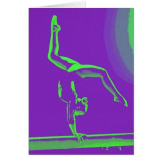 Gymnast-viel Glück-Anmerkungs-Karte Karte